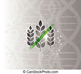 Gluten free abstract scientific DNA background