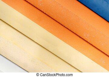coloridos, Toldos, textura