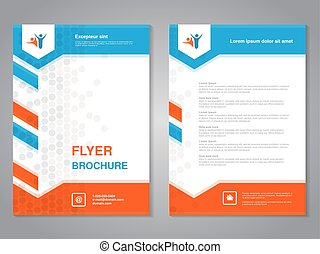 Vector modern brochure, abstract flyer with simple dotted...