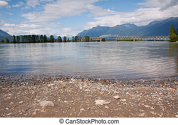 Bridge over the Fraser River, British Columbia - Bridge over...