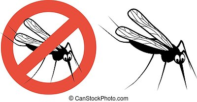 Vector mosquito isolated on white background