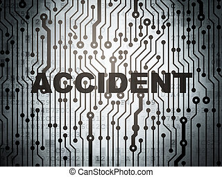 Insurance concept: circuit board with Accident - Insurance...