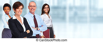 Business team. - Group of professional business people....