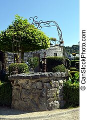Former well in stones. - Former well in stones with an old...