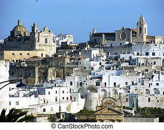 Hilltop Town of Ostuni in Italy - The hilltop town of Ostuni...