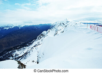 mountains - winter hight mountains in Sochi. Russian...