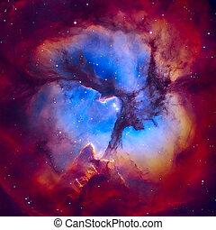 Sagitario,  H,  región, nebulosa,  trifid,  II, localizado
