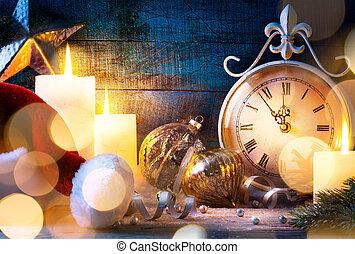 art Christmas holiday eve
