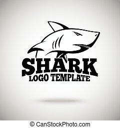 Vector logo template with Shark, for sport teams, brands etc.