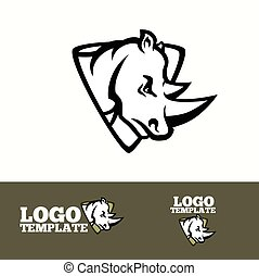 Rhino logo vector concept for sport teams, brands etc. -...