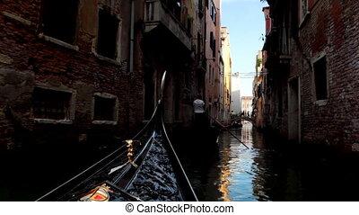 Sail on gondola and turn