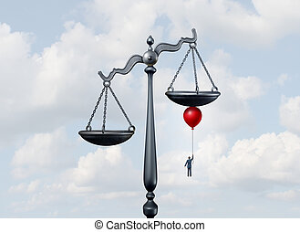 Tipping The Scales - Tipping the scales of justice concept...