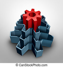 Core Business - Core business solution concept as an inner...