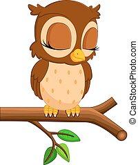 cute owl cartoon - illustration of  cute owl cartoon