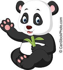 baby panda cartoon