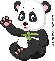 baby panda cartoon - illustration of cute baby panda cartoon
