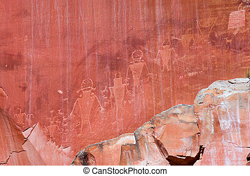 Fremont Petroglyphs in Capitol Reef - Native American...