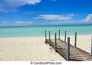 Vacation bridge to final destination in Cayo Coco ,Cuba