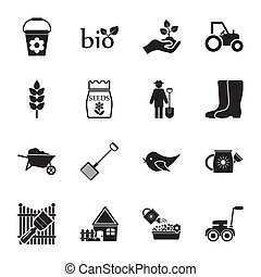 farm, gardening 16 icons universal set for web and mobile...
