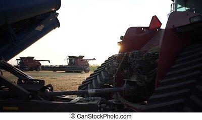 Tractor with trailer, full hd - Stand behind the tractor...