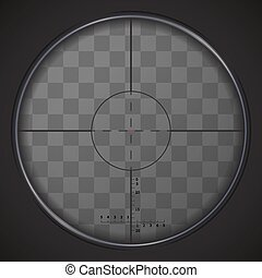 Realistic sniper sight on transparent background - Realistic...