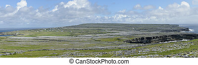 Inishmore panorama, Aran Islands, Ireland, Europe - Panorama...