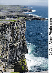 Cliffs of Inishmore, Aran Islands, Ireland, Europe - The...