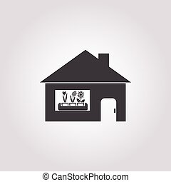 house icon on white background