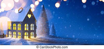 arte, fundo, Natal