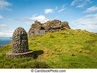 Memorial Cairn on Isle of Skye - Memorial cairn to the...