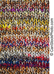 Knitwear of colored yarn - View at knitwear of colored yarn