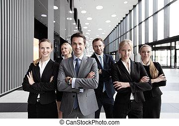 Successful business team - Portrait of successful smiling...