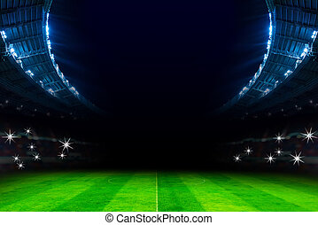 lights in soccer stadium at night match