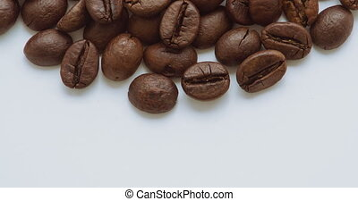 Roasting Coffee Beans. Close up