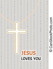 christian cross on a chain - Christian cross on a chain as a...