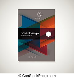 Abstract business Flyer design vector template in A4 size...