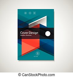 Abstract business Flyer design vector template in A4 size....