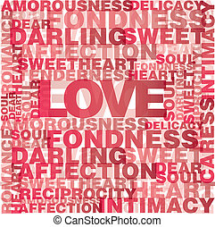 Valentine love words - Valentine heart from sweet love words