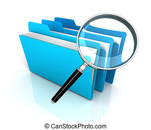 folder or file search concept   3d illustration