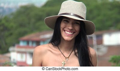 Christian Teen Girl Smiling Wearing Hat