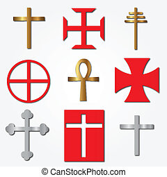 Vector of various Crosses
