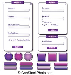 Purple Web Forms