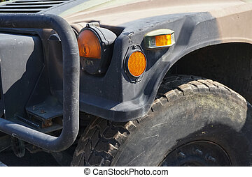 army jeep or Military Jeep closeup