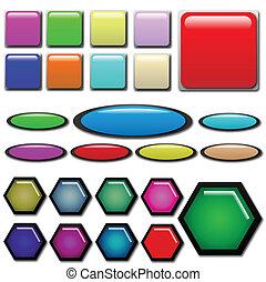 Web Button Shapes