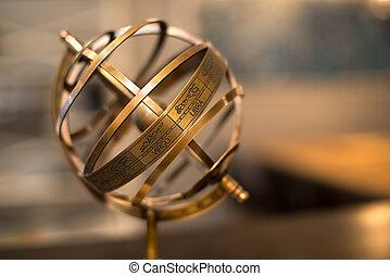 Armillary Sphere with zodiac symbols
