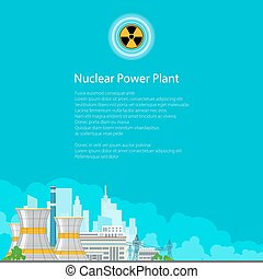 Electric Power Transmission from a Power Plant - Nuclear...