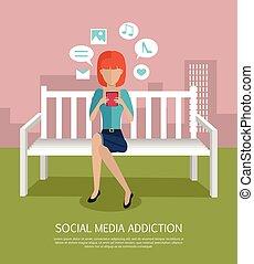 Social Media Addiction Banner