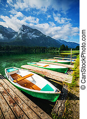 Gosausee - Amazing sunny summer day on the Hintersee lake in...