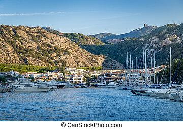 Poltu Quatu luxury resort and marina, Sardinia, Italy. -...