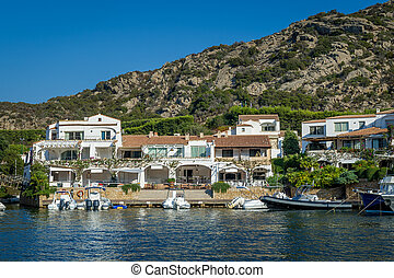 Poltu Quatu luxury resort villge pier, Sardinia - Motor...